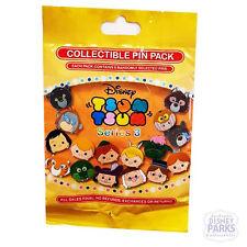 Disney Parks Tsum Tsum Series 3 Pin Pack - 5 Random Mystery Pins in Bag