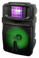 "VocoPro Karaoke-Thunder-1500 15"" Powered DJ/Karaoke Party Speaker with RGB Derby"