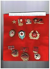 CCCP USSR Soviet Union Set of 10 Military badges