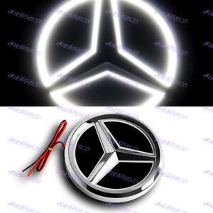 5D LED Car Tail Logo White Light Badge Emblem Light For Mercedes-Benz C S GL AMG