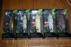 Fishing Lure Lot Of 5 Googan Squad Revolver Topwater Fishing Lures NIB