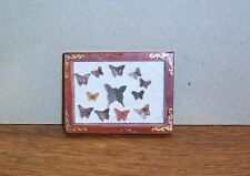 Wandbild mit Schmetterlingen - Miniatur 1:12 Puppenhaus