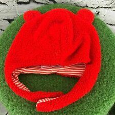 Magnificent Baby Unisex Sz 12-18 Mos Hat Orange Trapper Beanie Warm Winter Cap