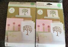 Martha Stewart Glittered Botanical Card Kit & Honeycomb Thank You Card Kit