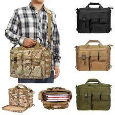 Men 17'' Laptop Shoulder Bag Tactical Briefcase Travel Handbag Messenger  ! ~