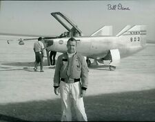 BILL DANA NASA TEST PILOT AND ASTRONAUT SIGNED PHOTO WITH PLANE