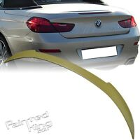 Unpainted Fit For BMW 6-Series F12 V-Type Convertible Rear Trunk Spoiler Wing