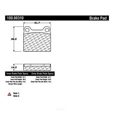 Disc Brake Pad Set-FWD Rear,Front Centric 100.00310