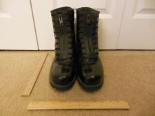 Boots Mens Black Leather Work Boots Size 11 w 11w Used PreOwned Vibram Laced #41