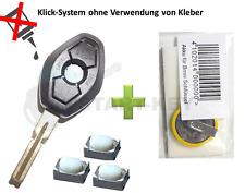BMW Schlüssel Gehäuse + Akku  E39 E38 E46 E36 Z3 Key Cle Chiave HU58 3Tasten