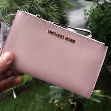 Michael Kors Jet Set Travel Double Zip Wristlet Wallet - Blossom Pink