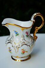 Meissen handpainted B form milk jug for tea set