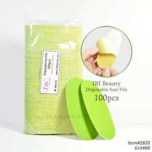 iBi Disposable Green Foot File Pad 80 Grit Coarse - 100 pcs