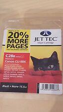 JETTEC C28B CARTUCCIA A GETTO D'INCHIOSTRO NERO ~ compatibile con CANON CLI-8BK