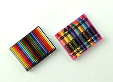 Melody Jane Dolls House Miniature Pencils & Crayons Sets Accessory Studio Study