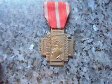 belle medaille militaire belge ww1 croix de feu canon long