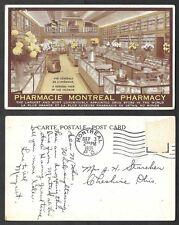 1935 Canada Postcard - Montreal, Quebec - Pharmacy Interior, Drug Store