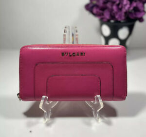 Bvlgari Serpenti Forever Calf Pink Leather Continental Wallet
