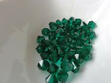 6mm Glass bicones - Green - Approx. 50 beads per pack
