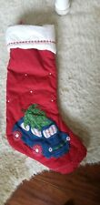 Pottery barn kids quilted Christmas tree car stocking
