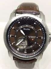Bulova  C877597 Automatic Stainless Steel & Leather  21 Jewels  Watch
