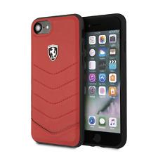 Ferrari Funda Carcasa Para IPHONE Se (2020) 8 Y 7 Genuino de Piel