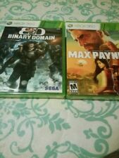 Binary Domain (Microsoft Xbox 360, 2012) new new + max payne 3 new ps3 game lot