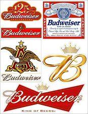 Budweiser Beer Vinyl Decal Sheet Logo Anheuser Busch Sticker FREE SHIPPING 1