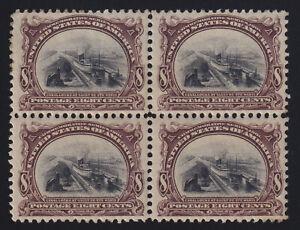 US Pan American Stamp Scott #298 MNH/MvLH Block of 4 Catalog Value $640.00+