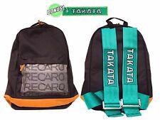 JDM Recaro Racing Backpack with Racing Harness Shoulder Straps Super Cool GR/BR
