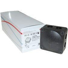 Box of 5 Wiska 308/5 Black IP66 Weatherproof Adaptable Junction Boxes   - 60580