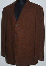 VINTAGE HARRIS TWEED FREY WOOL COUNTRY HACKING JACKET BLAZER BROWN 44 L