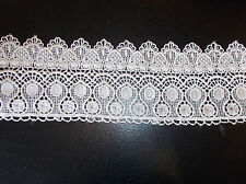 11cm ivory embroidered guipure lace bridal wedding dress prom trim veil net