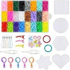 24 Farben 4300x Aqua Basteln Bead Kinder Bastelset Perlen Kit Geschenk Gift DIY