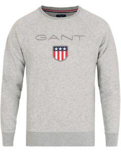 Evening Blue 4XL GANT Sweatshirt Long Sleeve Medium Shield Logo Crew Neck