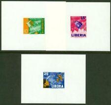 Liberia 1964 Space/Communications miniature sheets