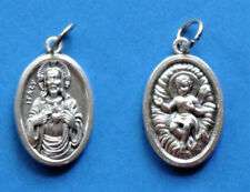 "Sacred Heart of Jesus / Christ Child Oxidixed Medal (7/8"" x5/8"")"