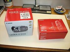Canon; Legria HF M306 Camcorder and Canon DM-100 Directional Microphone