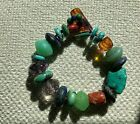 Unique One of a Kind Artisan Crafted Semi-Precious Natural Stone Bracelet