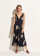 NWT Vince Gardenia Floral Pleated Twist Front Dress Coastal Blue Size 4, 8 $345