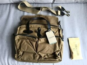 Filson 24 Hour Tin Briefcase 70140 Tan - New  Model With Tags