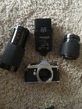 Lot Of 4 Pentax ME Super SLR Film Camera 2x Lens Macro Access 70-210mm Tokina SD