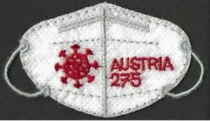 Austria 2021  FFPP2 mask    stamp in shape of mask        mnh G
