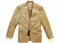 Ralph Lauren Black Label Italy Khaki Tan 97% Cotton Sport Coat Jacket Slim 38 R
