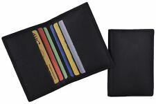 Mini Bifold Black Mens Wallet Genuine Leather Slim Thin Credit Card Holder New