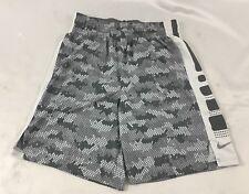 Nike MEN'S Basketball Shorts Elite Gray Print 904434 Size M