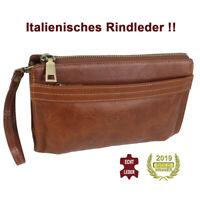 Herren Handgelenk Tasche aus Italienischen Rind Leder hochwertig in Topqualität!