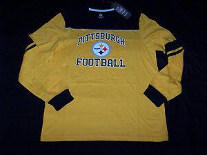 Reebok Men's Pittsburgh Steelers Long Sleeve Shirt NWT Medium