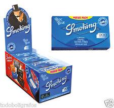 Papel Smoking 200 azul caja de 20 libritos para liar tabaco, fumar. Nueva.
