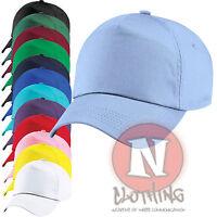 Classic Junior Baseball Cap for Children Kids Sun 100% Cotton size adjustable